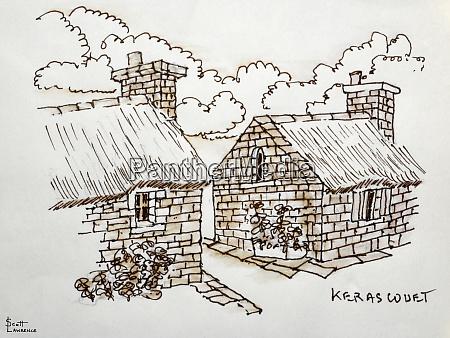 kerascouet is a small village in