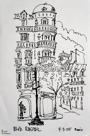 raspail in paris france shows typical