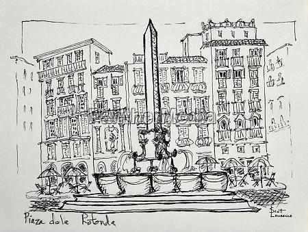 piazza de la rotonda in rome