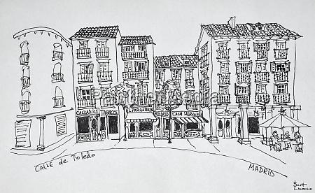 calle de toledo shopping street madrid
