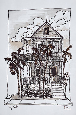 victorian style conch house with palm