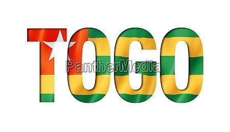 togo flag text font