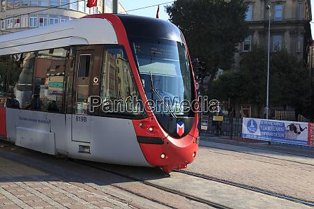 turkey istanbul modern trams or street