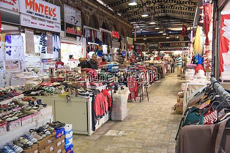 turkey marmara bursa clothing bazaar
