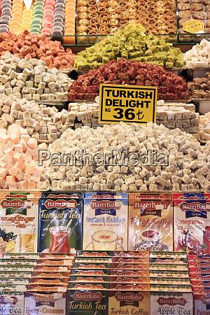 turkey istanbul spice market turkish delight