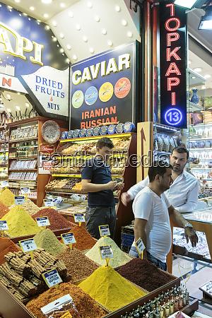 indoor spice bazaar istanbul turkey