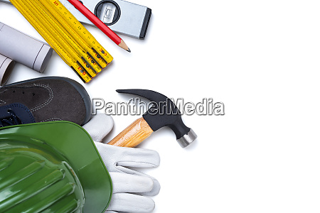 tools and work equipment for carpenter