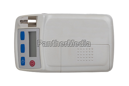 blood pressure monitor close up of