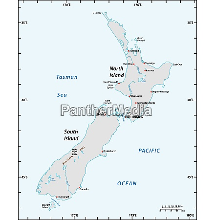 simple map of new zealand with