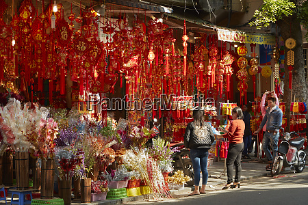 decoration shop old quarter hanoi vietnam