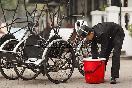 vietnam hanoi antique cyclos