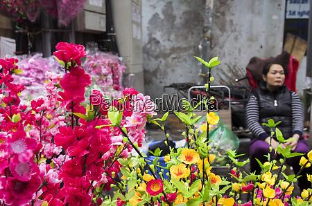 vietnam hanoi flower market