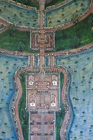 vietnam hue imperial city mural of