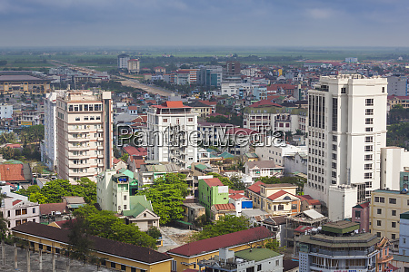 vietnam hue elevated city view