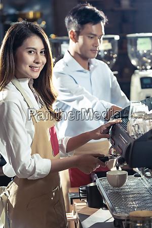 barista working