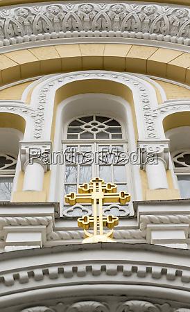 architectural detail russian orthodox church odessa