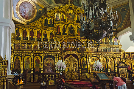 inside ascension day cathedral almaty kazakhstan