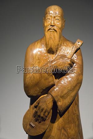 statue in kazakh museum of folk