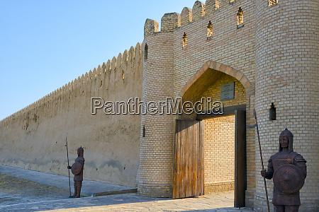ancient citadel and city gate turkestan