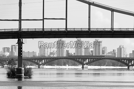 bridges over the dnieper river kiev