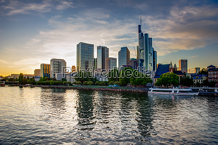 skyline of frankfurt at the main
