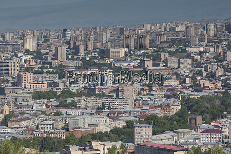 armenia yerevan city skyline from the