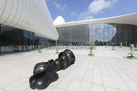 azerbaijan baku art in front of