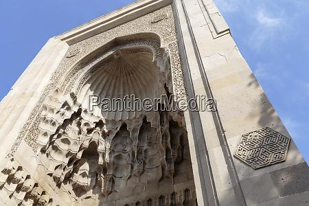 azerbaijan baku intricate stonework in an