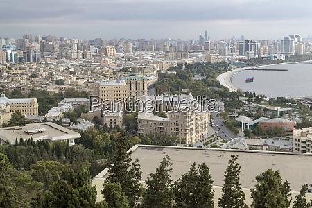 azerbaijan baku looking at bakus coastline