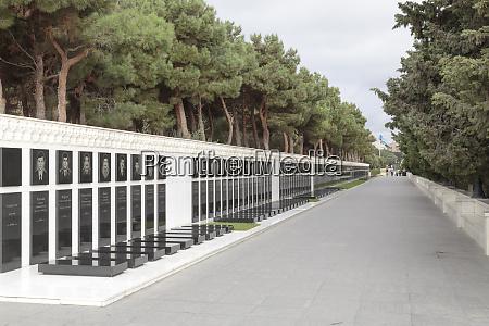 azerbaijan baku martyrs lane a memorial