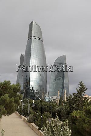 azerbaijan baku the flame towers of