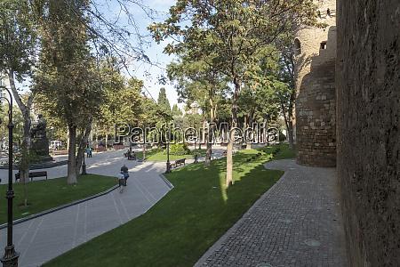 azerbaijan baku the outer wall of