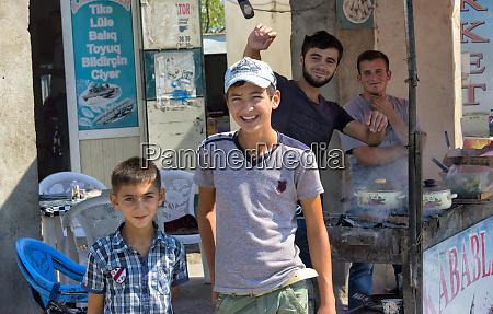 kids on the street baku azerbaijan