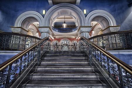 australia sydney stairway inside queen victoria