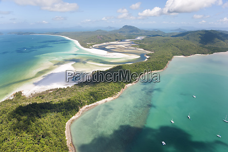 hill inlet whitsunday islands queensland australia