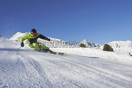 skier skiing kuehtai austria
