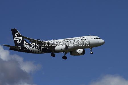 air new zealand a320 landing at