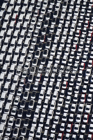 newly imported vehicles at ports of