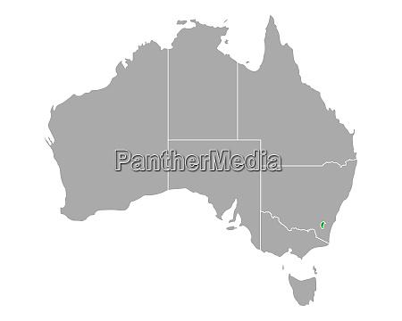 map of australian capital territory in