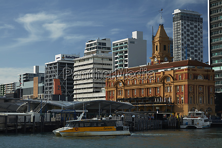 auckland ferry terminal and historic ferry