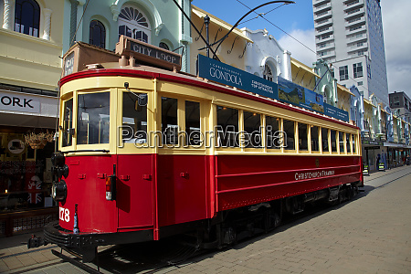 tram and art deco buildings new