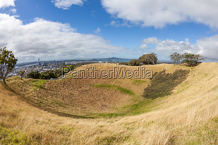 mount eden crater above auckland new