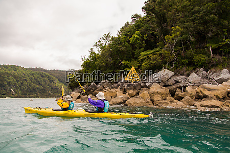 kayakers exploring a marine protected area