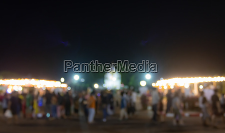 blurred crowd or people walking in