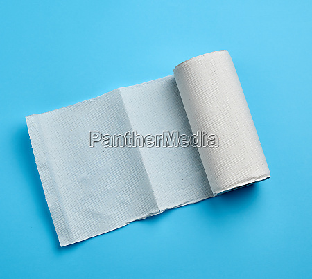 twisted roll of white paper towel