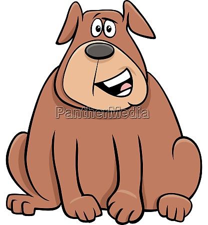 cartoon overweight dog animal character