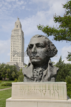 louisiana baton rouge bust of george