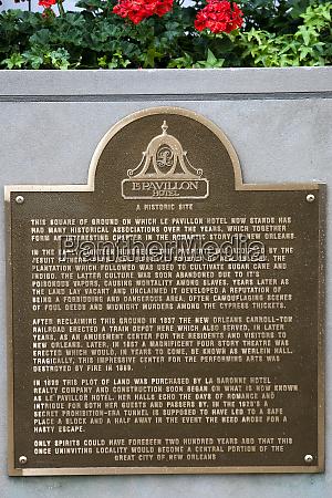 usa, , louisiana, , new, orleans., a, plaque - 27697539