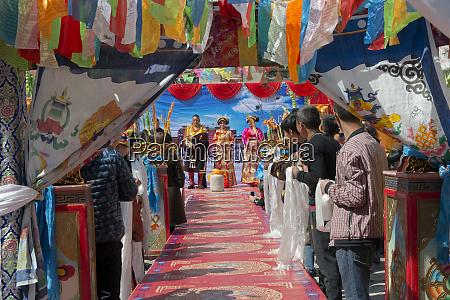 tibetan wedding ceremony jinchuan county sichuan