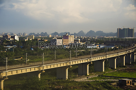 high speed train track with new